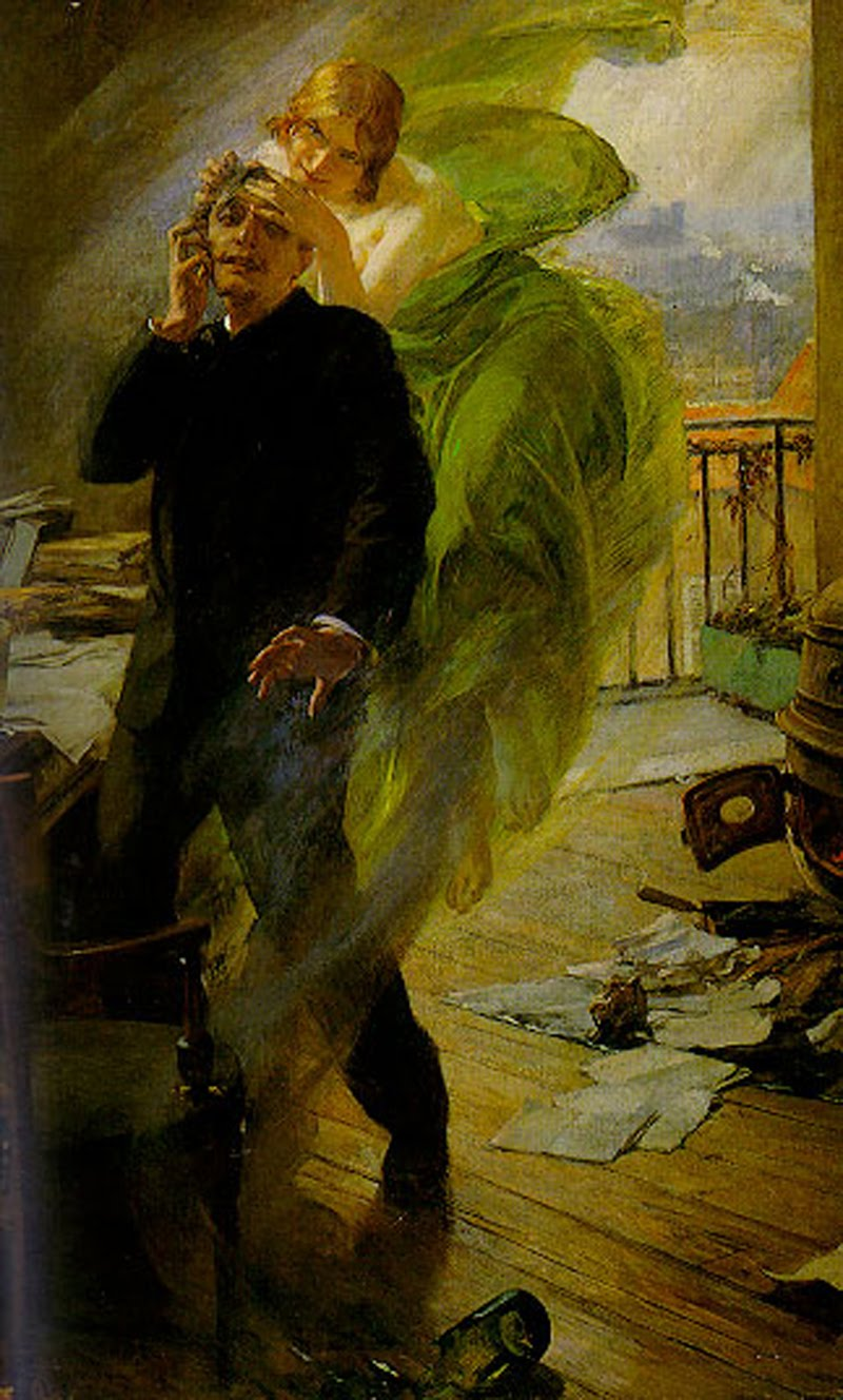 the-green-muse-by-albert-maignan